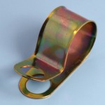 """3⁄4"""" Zinc Plated Steel Cable Clip 'P' Type"""