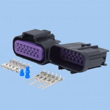 14 Way GT150 Series Black Male & Female Connector Kit