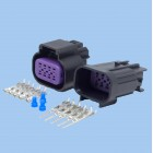 8 Way GT150 Series Black Male & Female Connector Kit