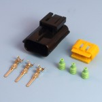 3 Way AMP Econoseal III .070 Series Male Sealed Pin Wiring Connector Kit