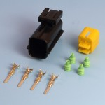 4 Way AMP Econoseal III .070 Series Male Sealed Pin Wiring Connector Kit