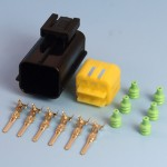 6 Way AMP Econoseal III .070 Series Male Sealed Pin Wiring Connector Kit