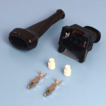 2 Way TE Junior Power Timer Black Wiring Connector Kit With Boot