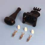 3 Way TE Junior Power Timer Black Wiring Connector Kit With Boot