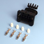 4 Way TE Junior Power Timer Black Wiring Connector Kit
