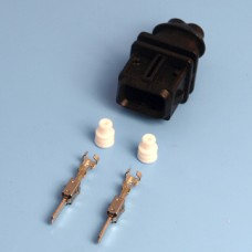 2 Way Bosch Male JPT / Jetronic Black Wiring Connector Kit