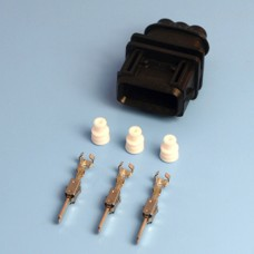 3 Way Bosch Male JPT / Jetronic Black Wiring Connector Kit