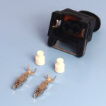 2 Way TE Junior Power Timer Black Wiring Connector Kit