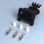 3 Way TE Junior Power Timer Black Wiring Connector Kit