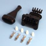 4 Way TE Junior Power Timer Black Wiring Connector Kit With Boot
