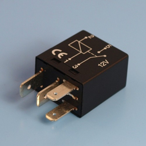 12V 25 Amp 4 Pin Normally Open Contact Micro Relay - Form A  Pin Micro Relay Wiring on