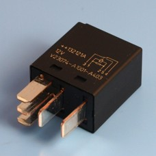 12V 25/15 Amp 5 Pin Changeover Contact Micro Relay With Resistor - Form A
