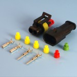 2 Way AMP 1.5 Series Superseal Wiring Connector Kit (Wire Size Options)
