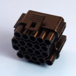 20 Way Black Receptacle Housing