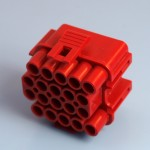 20 Way Red Receptacle Housing