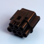 7 Way Black Receptacle Housing
