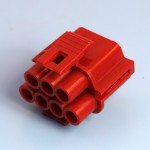 7 Way Red Receptacle Housing
