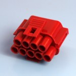 9 Way Red Receptacle Housing