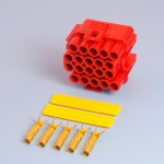 20 Way Red Receptacle Housing Kit