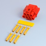 7 Way Red Receptacle Housing Kit