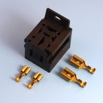 70 Amp 4 Pin Power Relay Base Holder With Mounting Bracket Kit