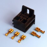 Black Relay Base Holder With Mounting Bracket Kit