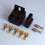 Black Relay Holder with Mounting Bracket & Single Fuse Holder Kit